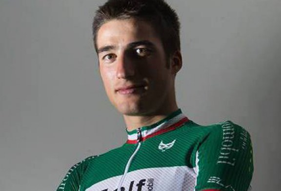 La maglia di Campione Italiano del giovane Gianni Moscon