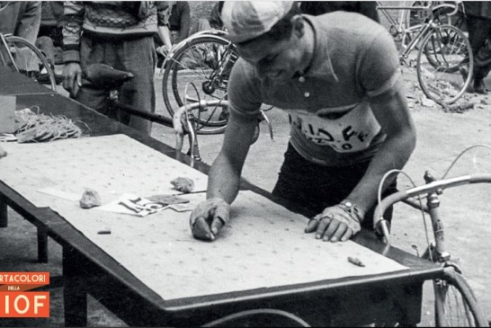 Con Bellutti e Moser sulle ali di una bicicletta