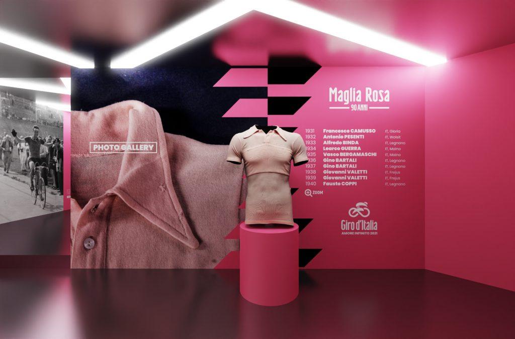 Mostra digitale per i 90 anni della maglia rosa
